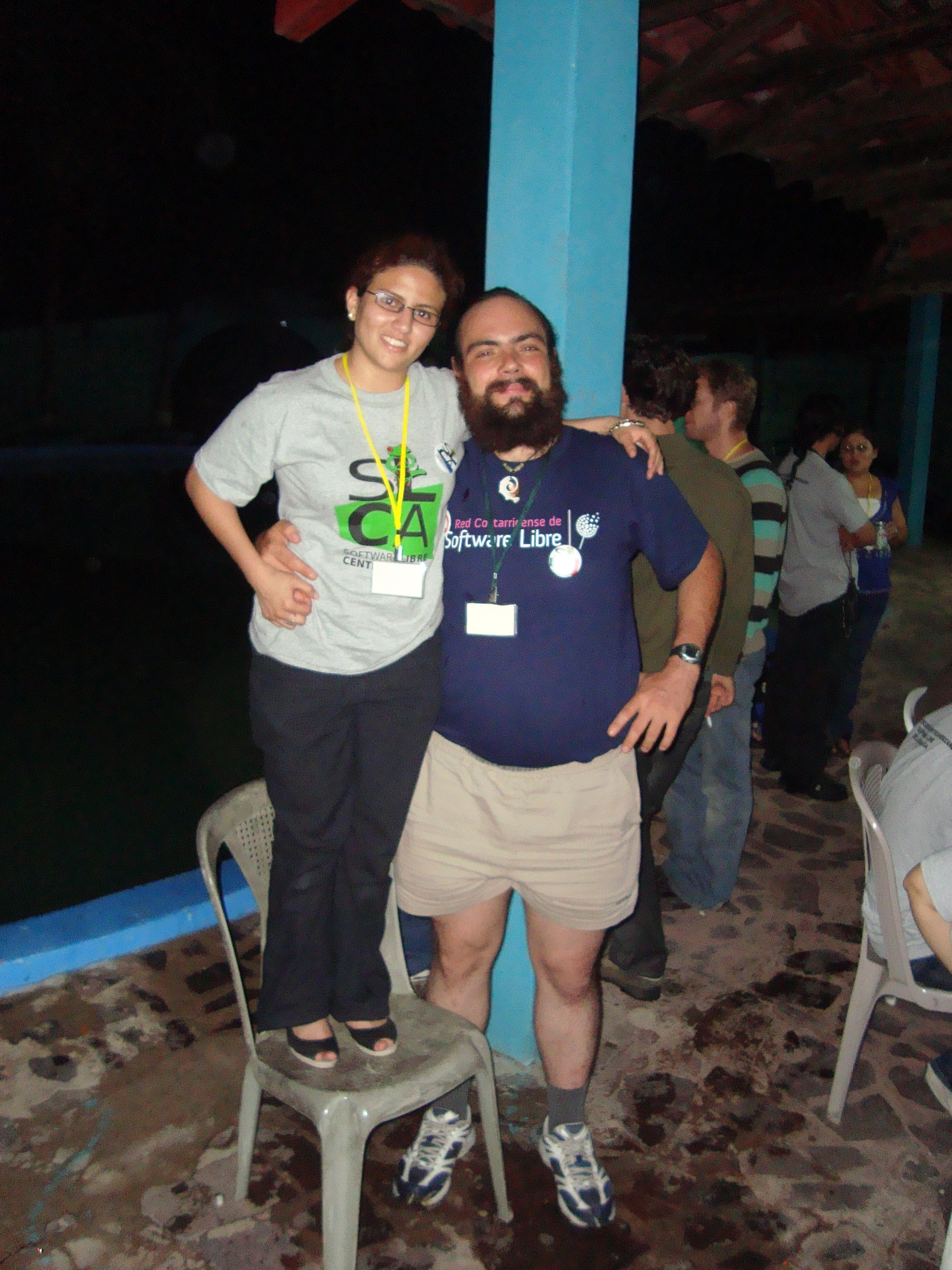 With Helen, from Honduras, who is also a frequent EDUSOL follower