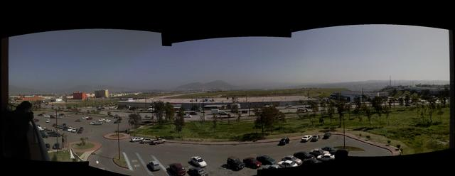 View from the new UABC university library builiding