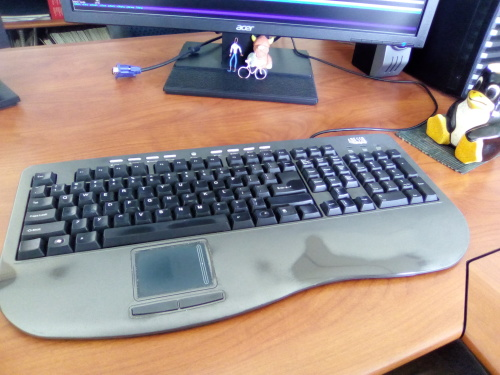 Desktop keyboards with a trackpad | Gunnar Wolf