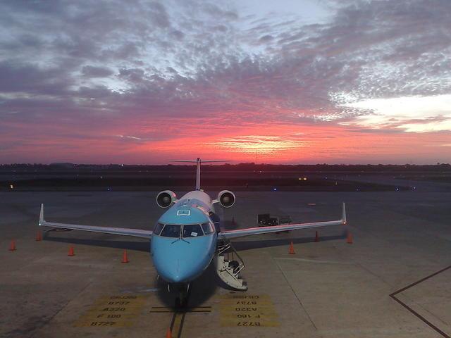 Sunrise at the Mérida (Yucatán) airport