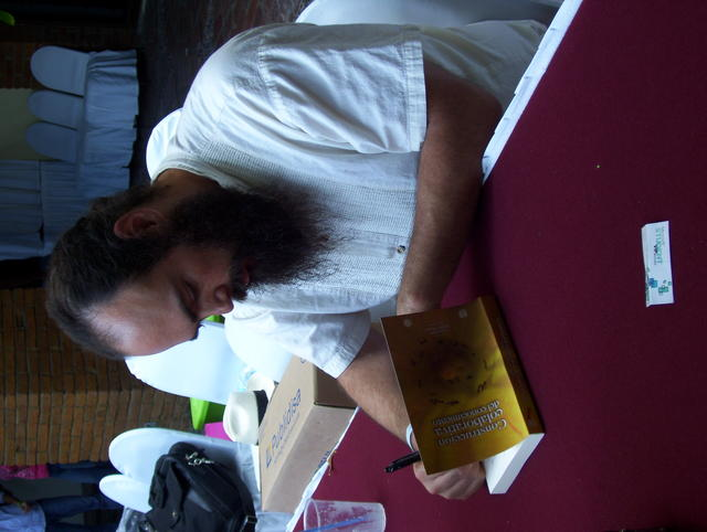 As it had to be: Signing some of the books