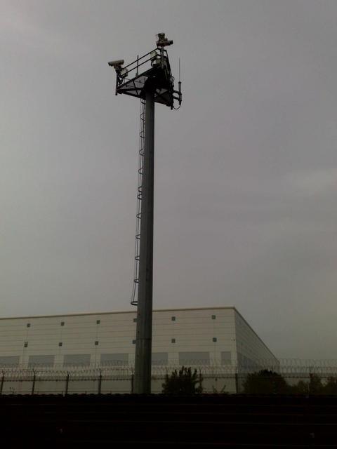 Observation post over the border