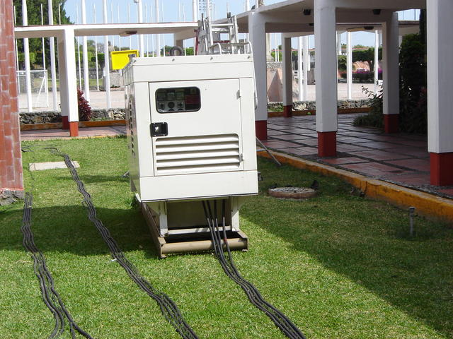 The people of Oportunidades had their own (rented) electrical power setup