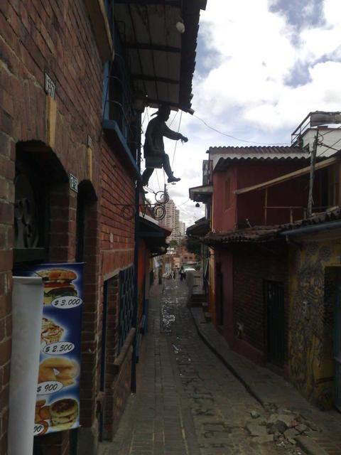 Walking in central Bogotá