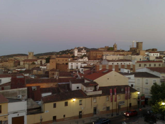 Cáceres old town view