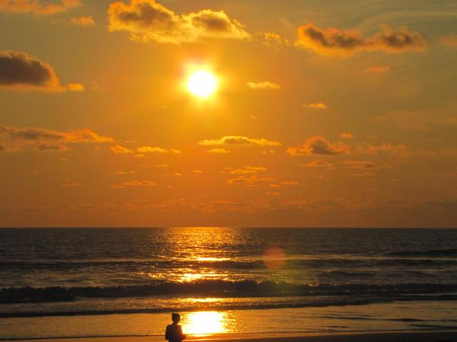 Sunset over the beach