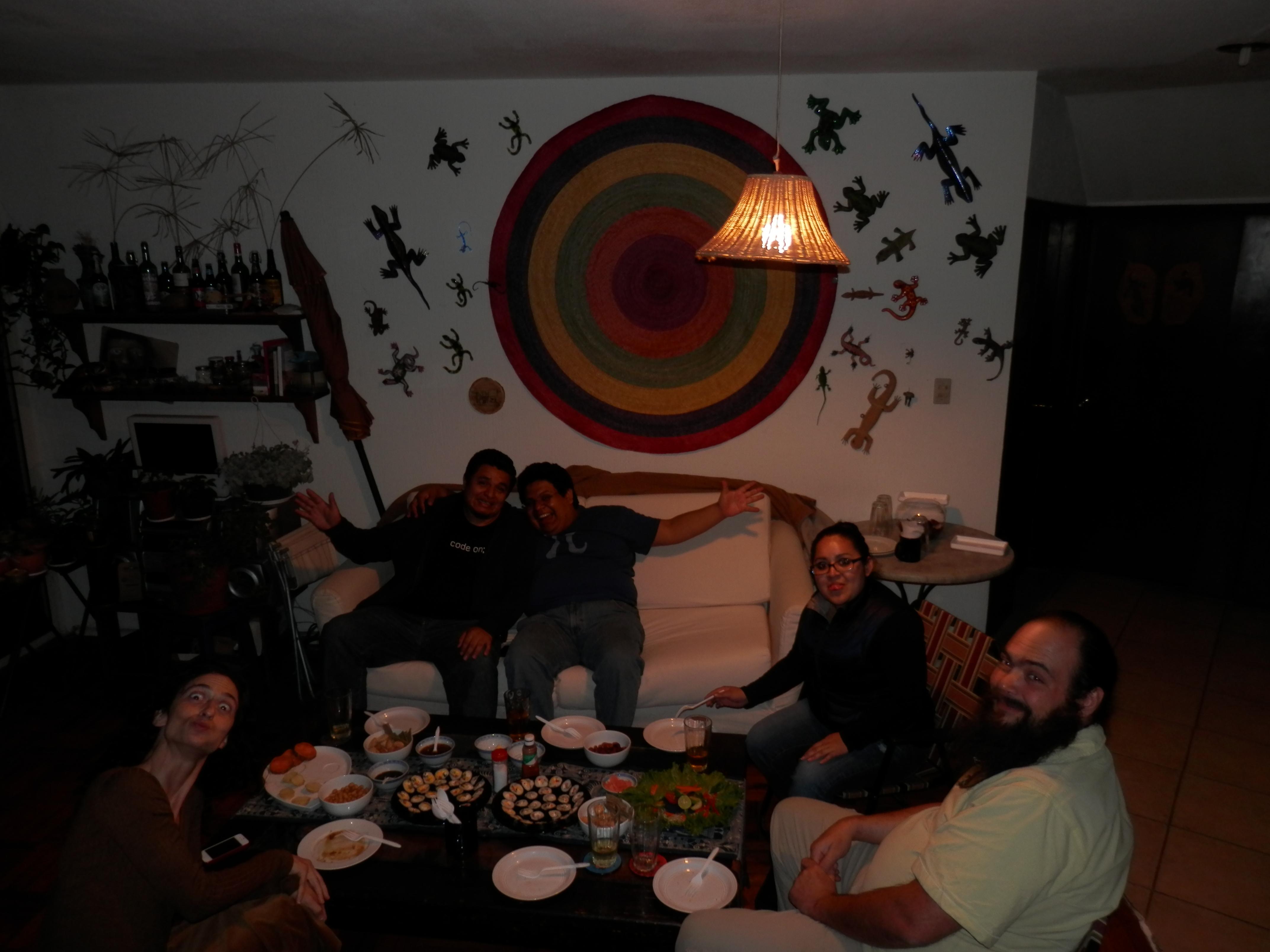 Nice dinner at home after Kaz's presentation