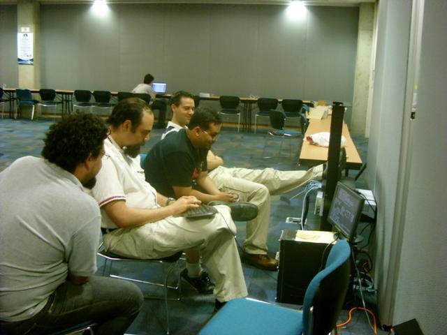 Karl Heinz, Nahual and I setting up the server