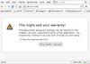 Dumb Firefox warning